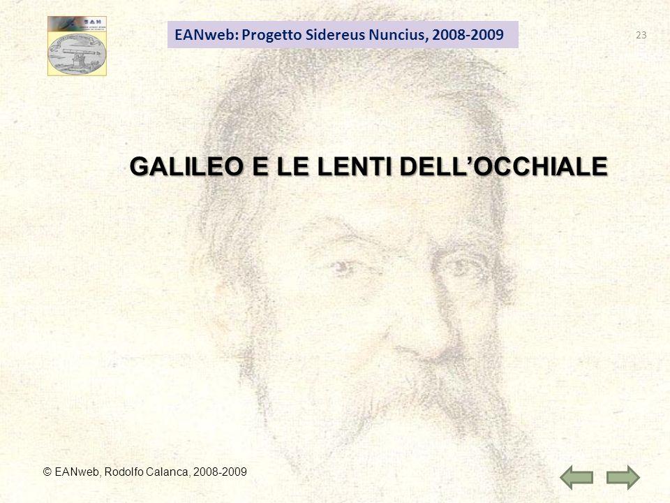 GALILEO E LE LENTI DELL'OCCHIALE