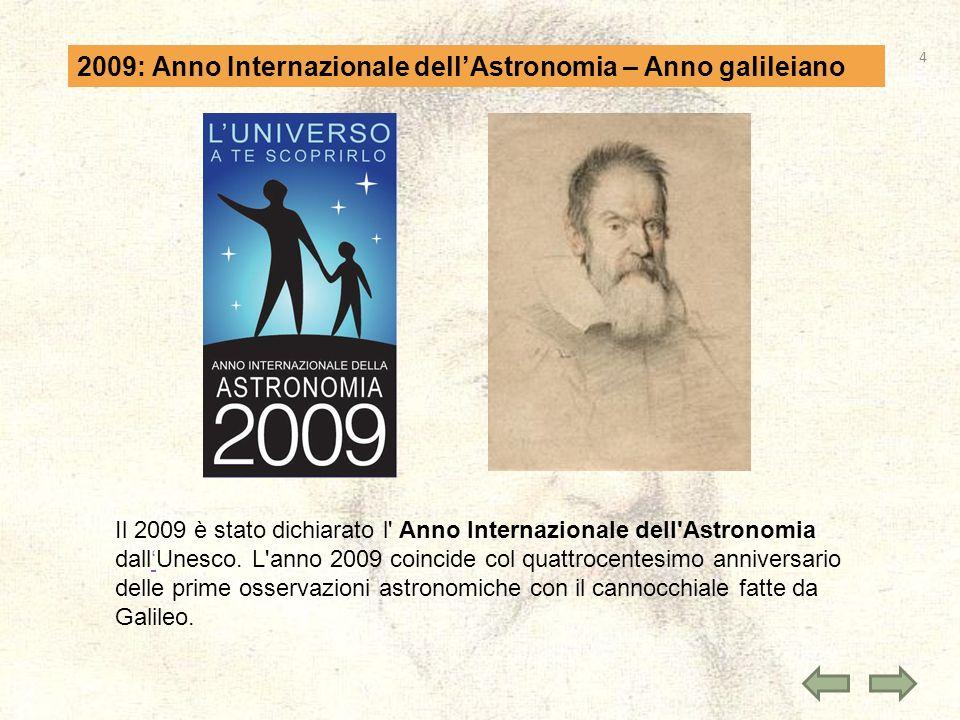 2009: Anno Internazionale dell'Astronomia – Anno galileiano