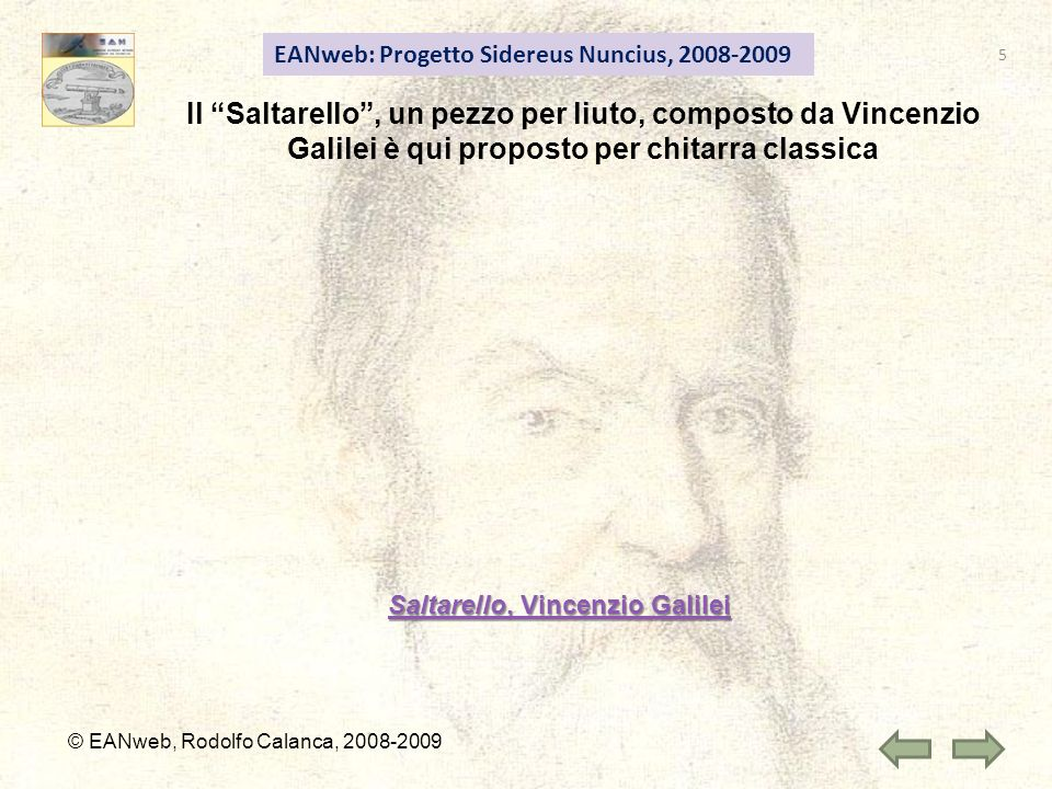 Saltarello, Vincenzio Galilei