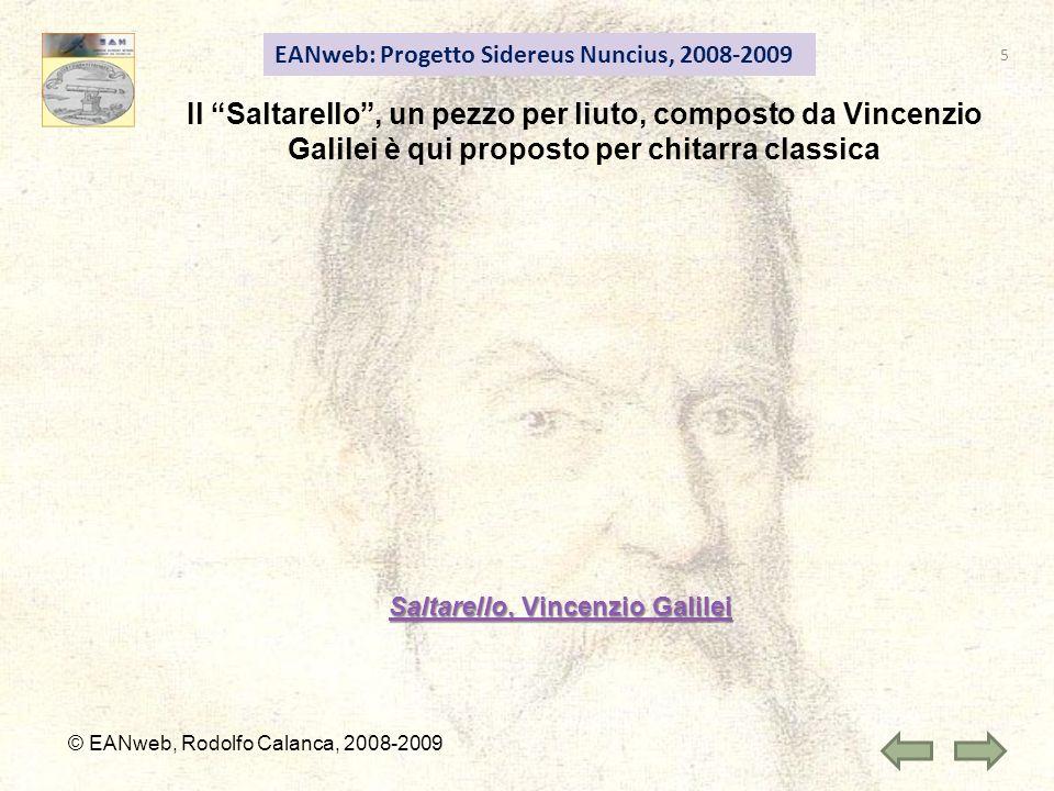 Saltarello, Vincenzio Galilei