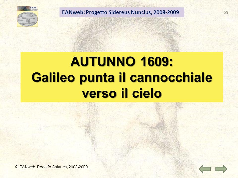 Galileo punta il cannocchiale verso il cielo