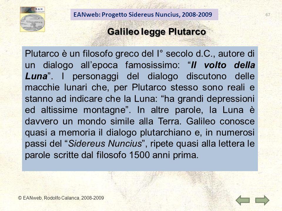 Galileo legge Plutarco