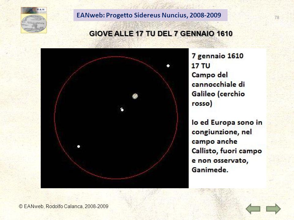 GIOVE ALLE 17 TU DEL 7 GENNAIO 1610