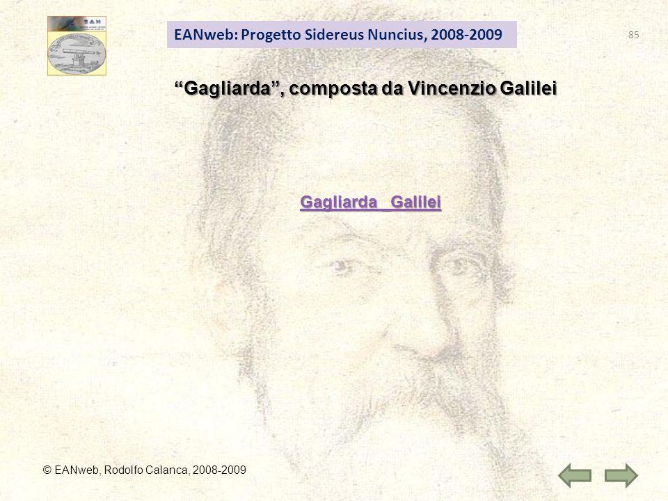 Gagliarda , composta da Vincenzio Galilei