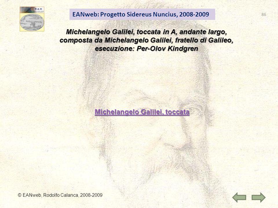 Michelangelo Galilei, toccata