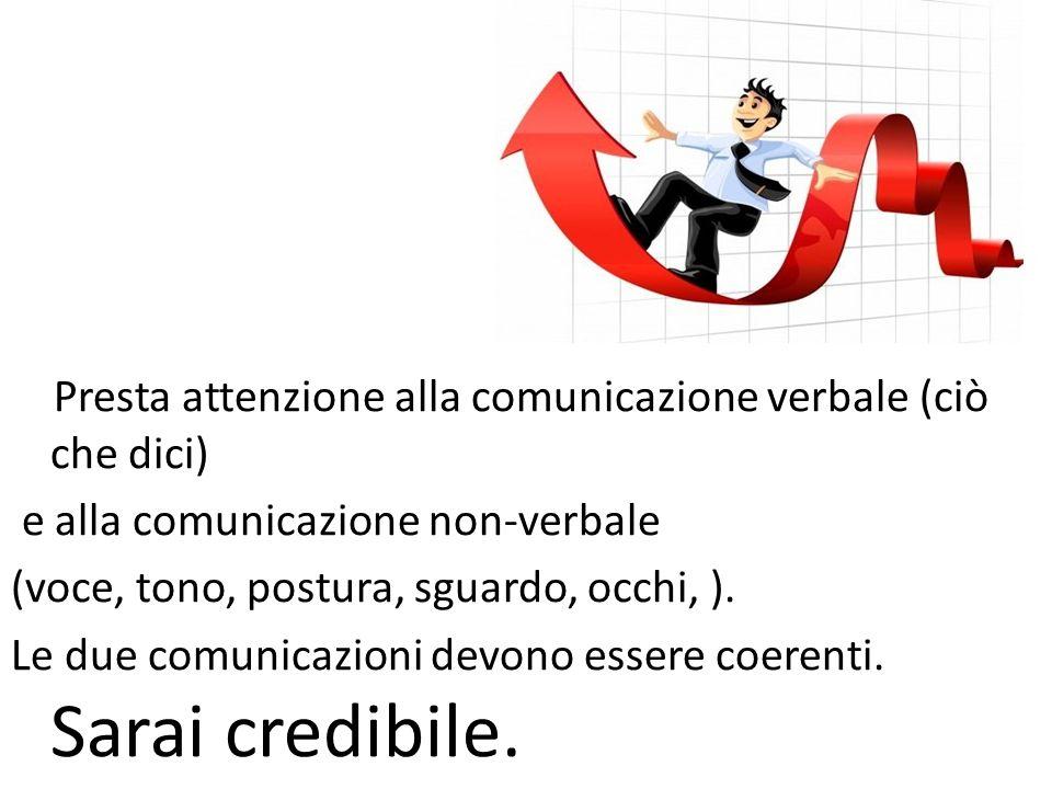 Presta attenzione alla comunicazione verbale (ciò che dici)