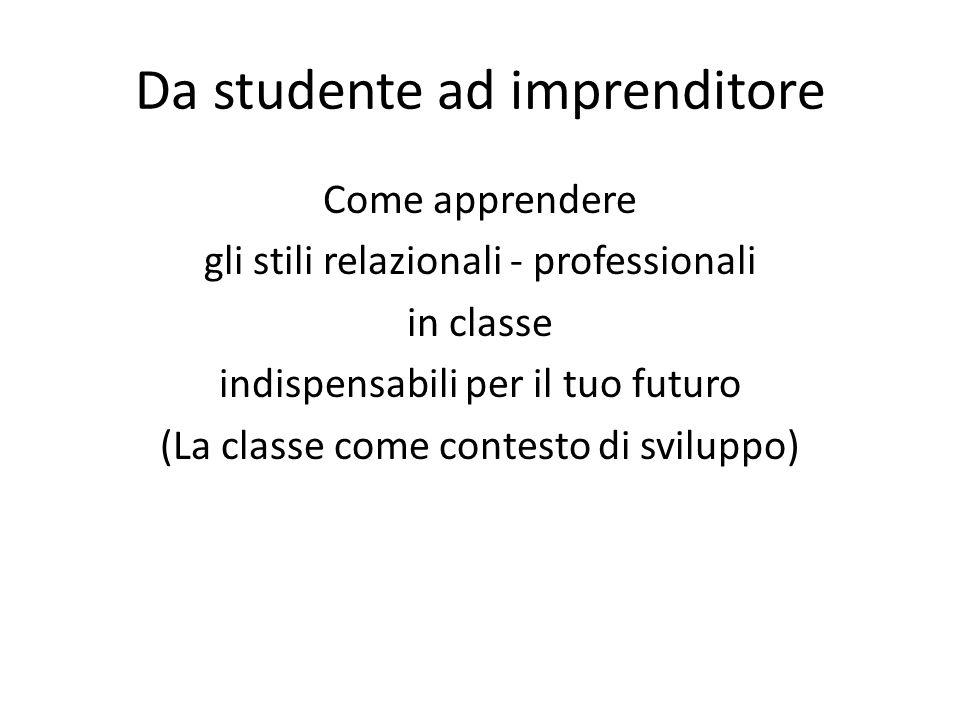 Da studente ad imprenditore