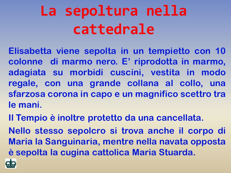 La sepoltura nella cattedrale