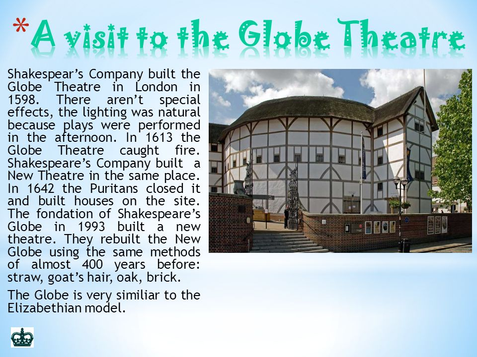 A visit to the Globe Theatre