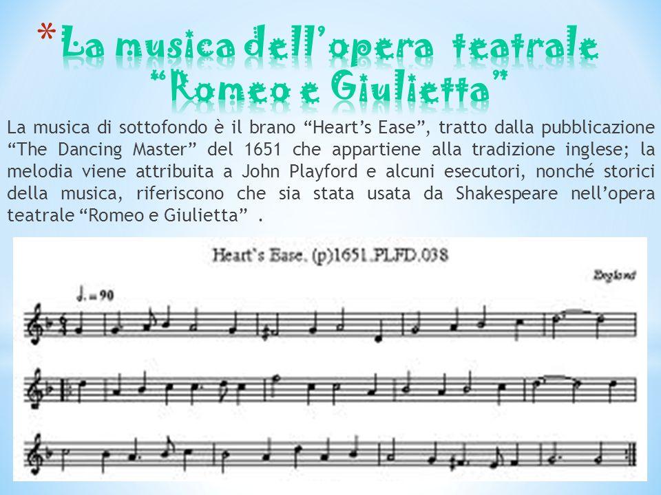 La musica dell'opera teatrale Romeo e Giulietta