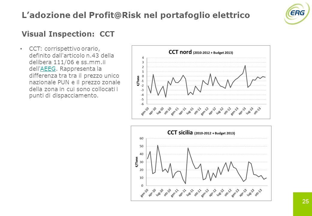 L'adozione del Profit@Risk nel portafoglio elettrico Visual Inspection: CCT
