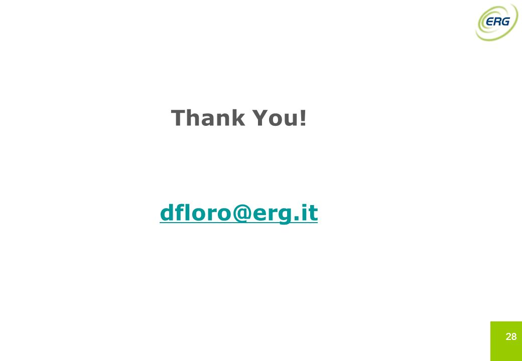 Thank You! dfloro@erg.it