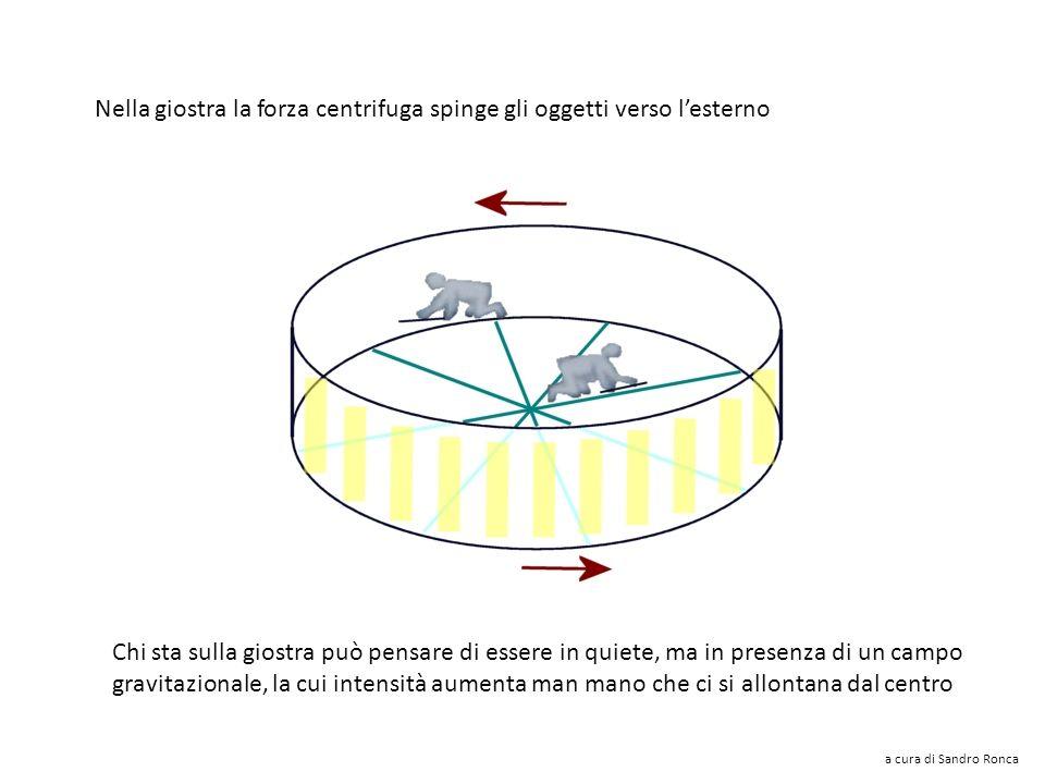 Nella giostra la forza centrifuga spinge gli oggetti verso l'esterno