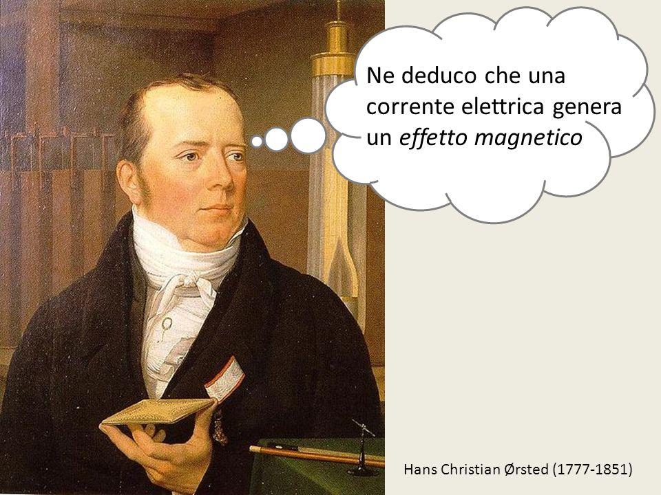 Ne deduco che una corrente elettrica genera un effetto magnetico