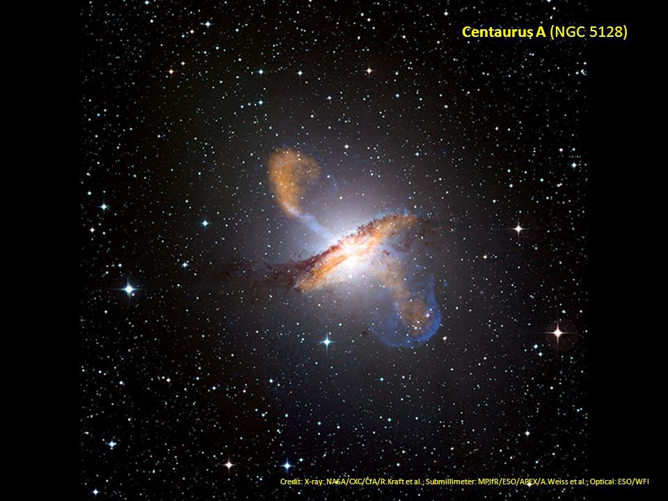 Centaurus A (NGC 5128)Credit: X-ray: NASA/CXC/CfA/R.Kraft et al.; Submillimeter: MPIfR/ESO/APEX/A.Weiss et al.; Optical: ESO/WFI.