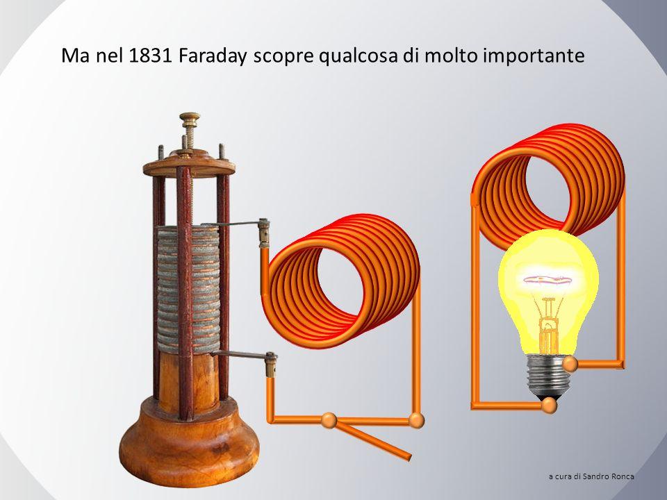 Ma nel 1831 Faraday scopre qualcosa di molto importante