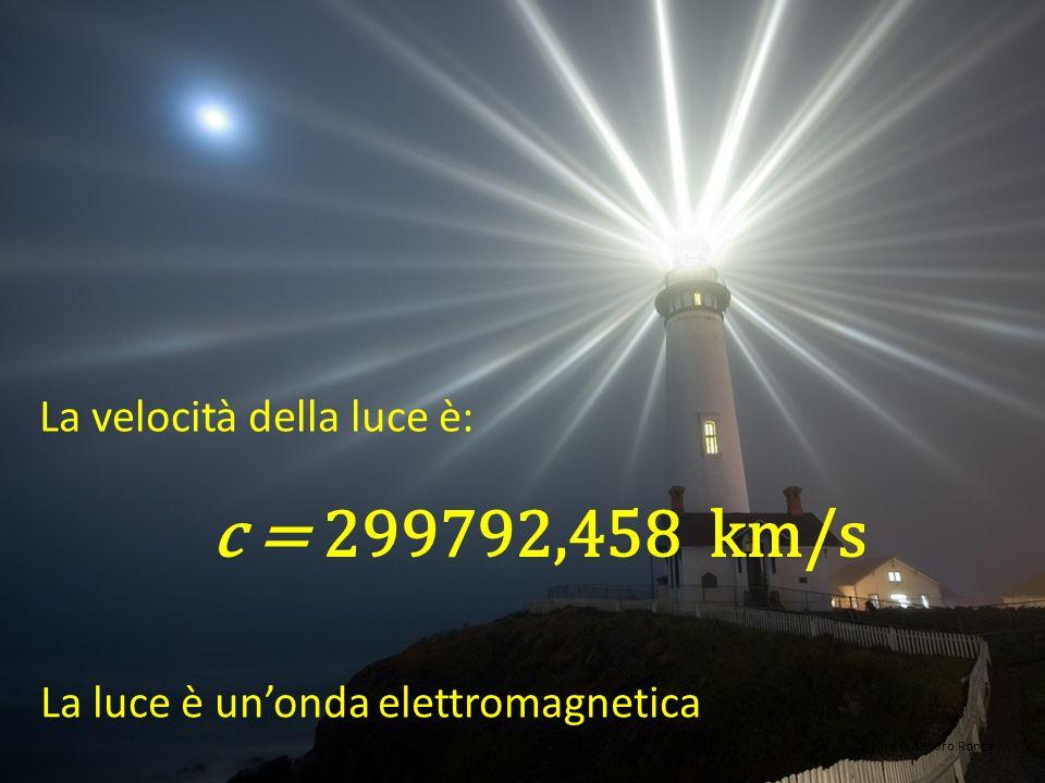 c = 299792,458 km/s La velocità della luce è: