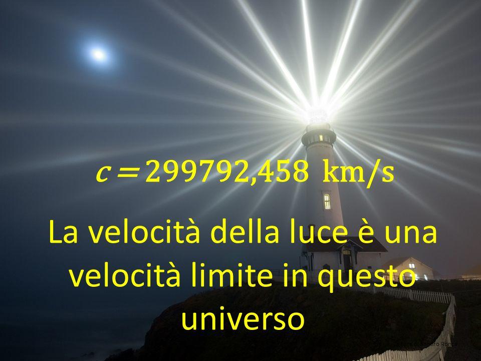 La velocità della luce è una velocità limite in questo universo
