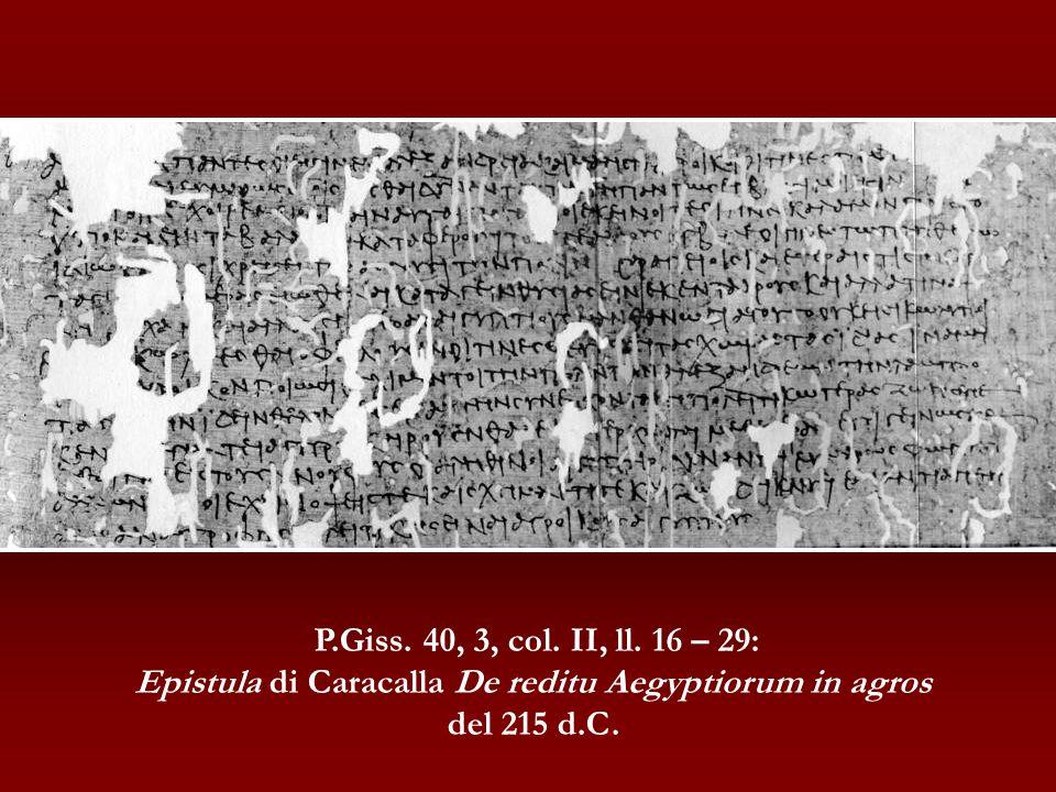 Epistula di Caracalla De reditu Aegyptiorum in agros