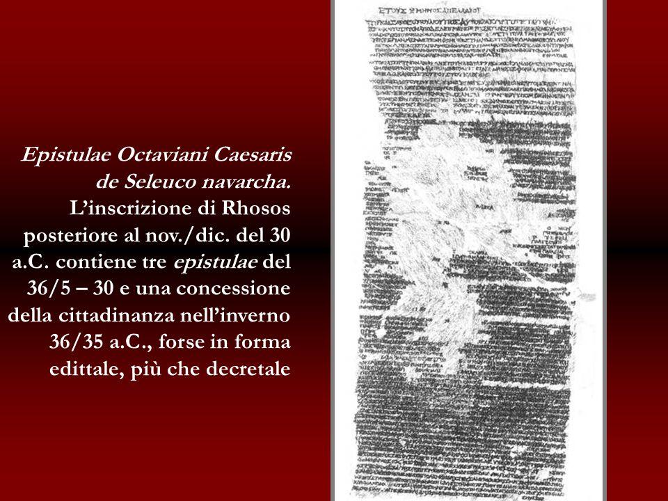 Epistulae Octaviani Caesaris de Seleuco navarcha