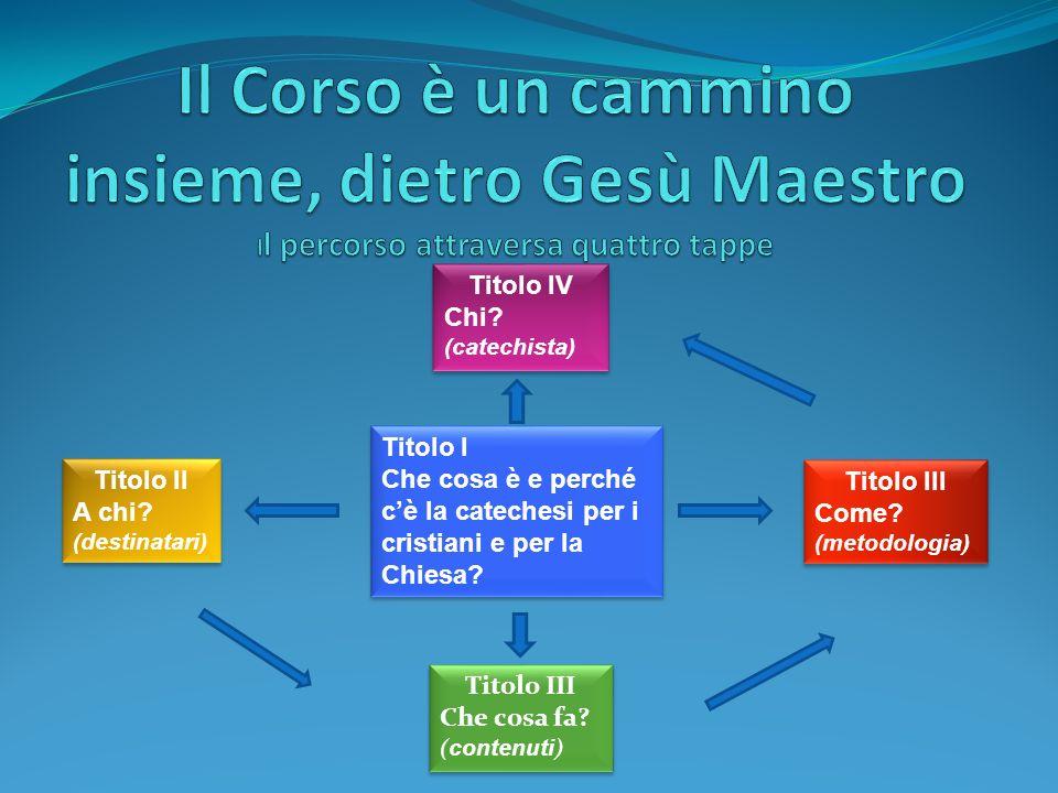 Il Corso è un cammino insieme, dietro Gesù Maestro Il percorso attraversa quattro tappe