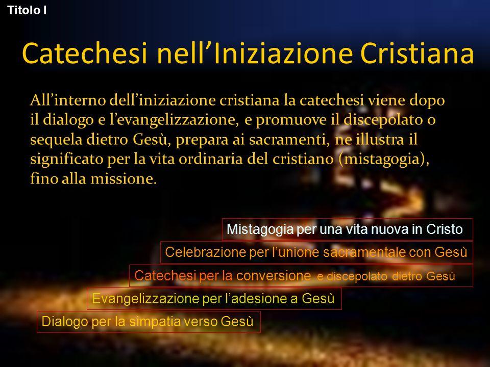 Catechesi nell'Iniziazione Cristiana