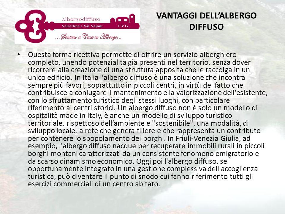 VANTAGGI DELL'ALBERGO DIFFUSO