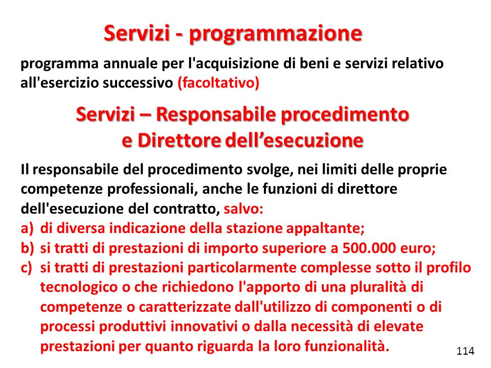 Servizi - programmazione