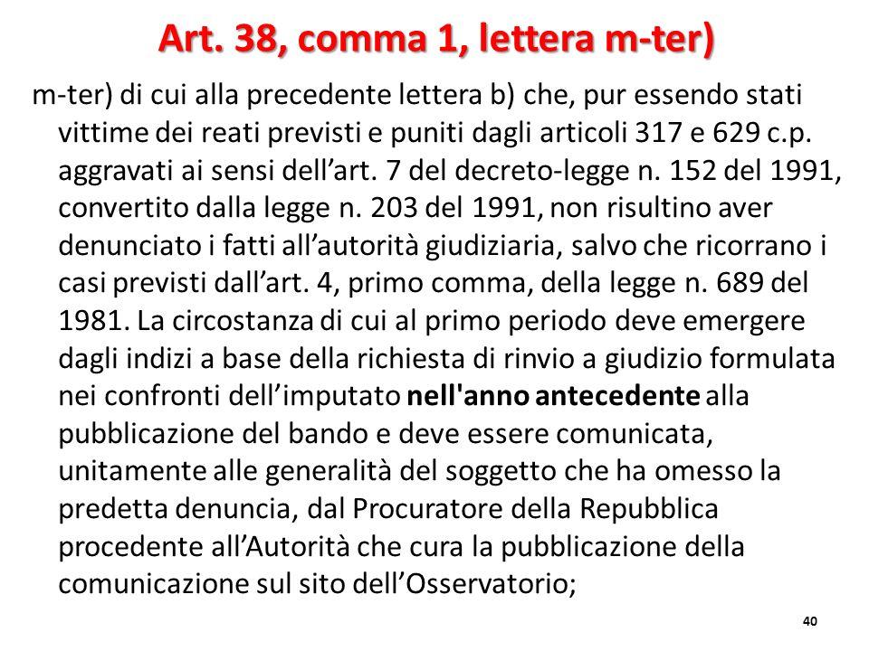 Art. 38, comma 1, lettera m-ter)