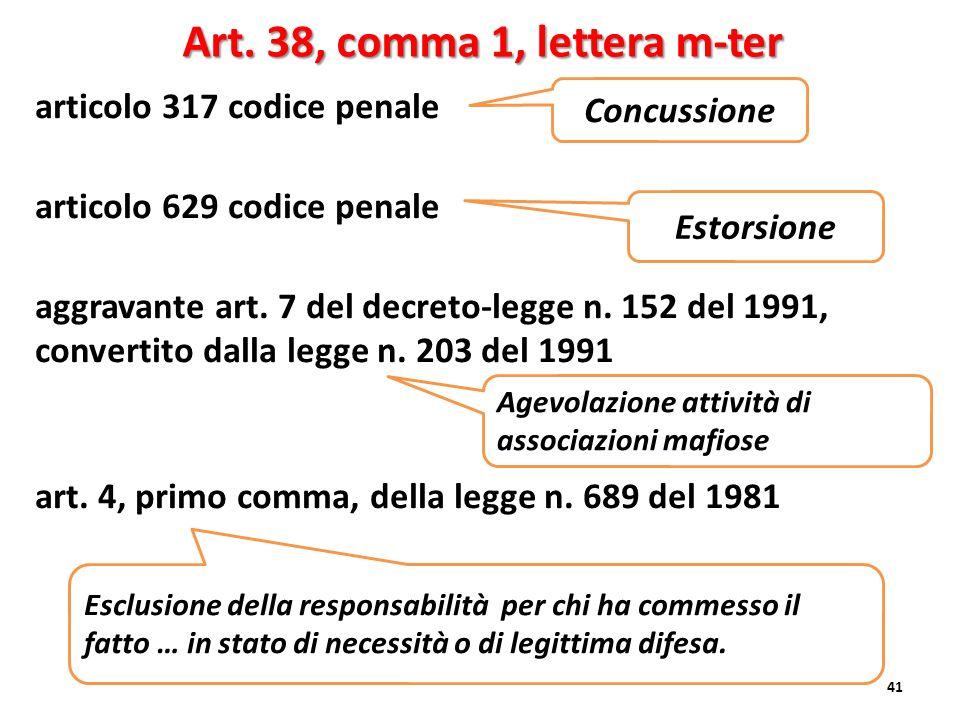 Art. 38, comma 1, lettera m-ter