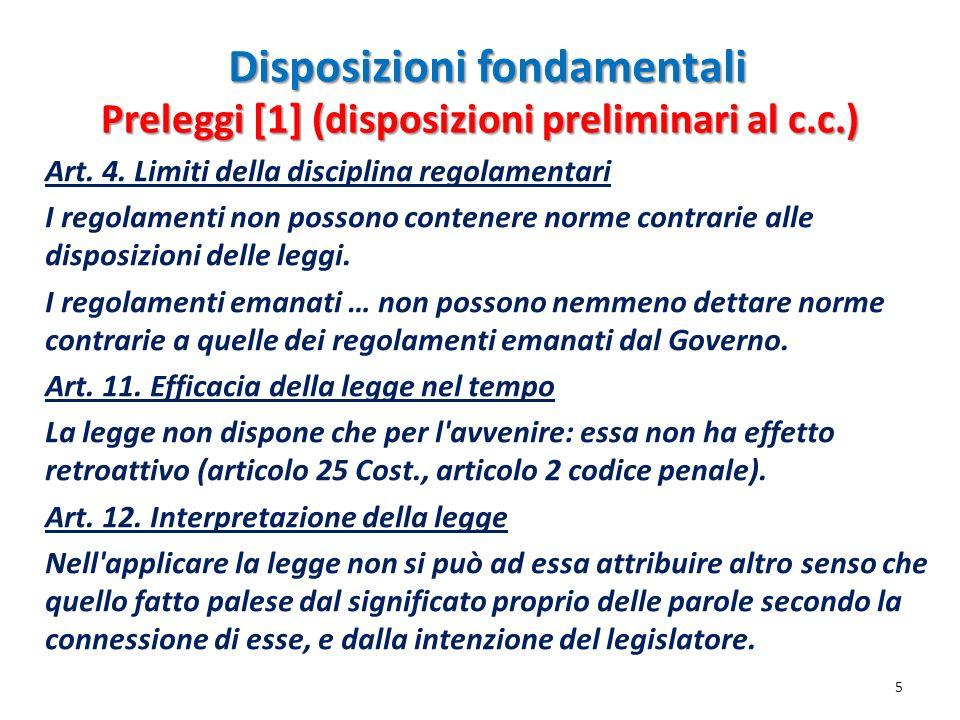 Disposizioni fondamentali
