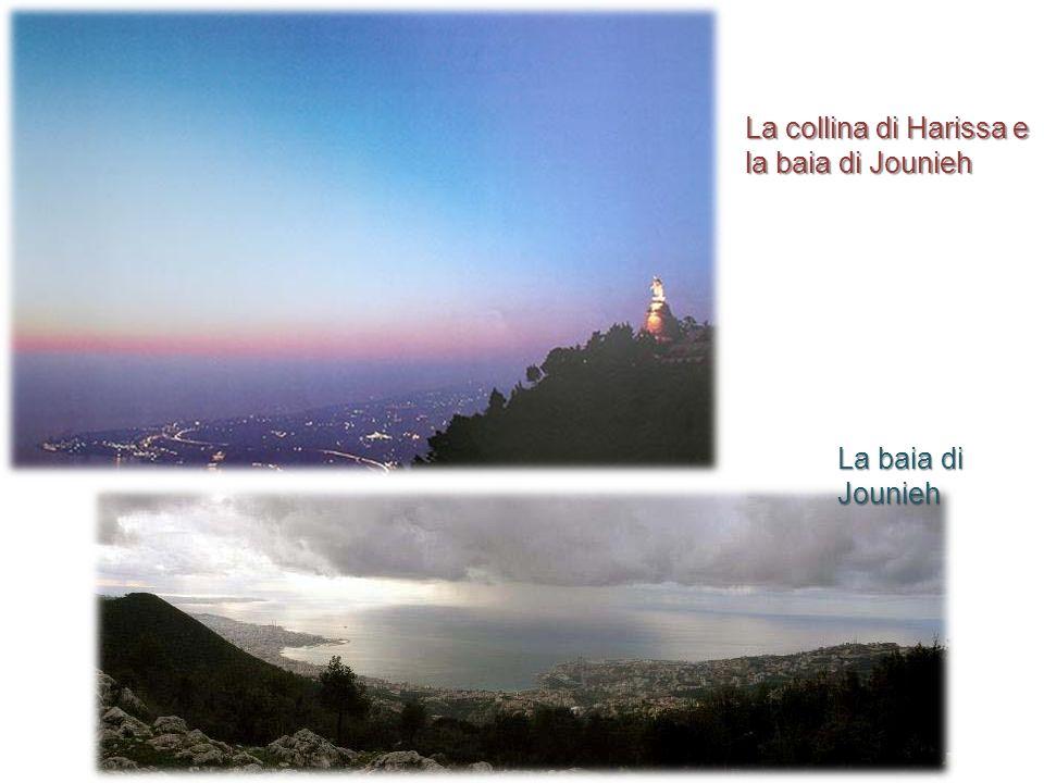 La collina di Harissa e la baia di Jounieh