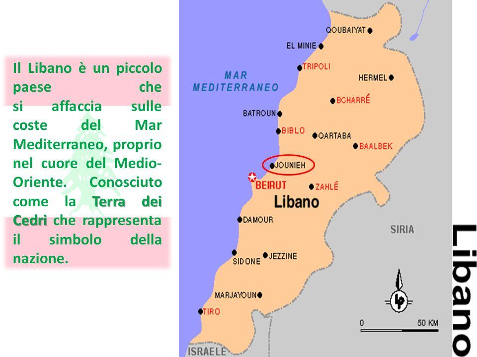 Il Libano è un piccolo paese che si affaccia sulle coste del Mar Mediterraneo, proprio nel cuore del Medio-Oriente. Conosciuto come la Terra dei Cedri che rappresenta il simbolo della nazione.
