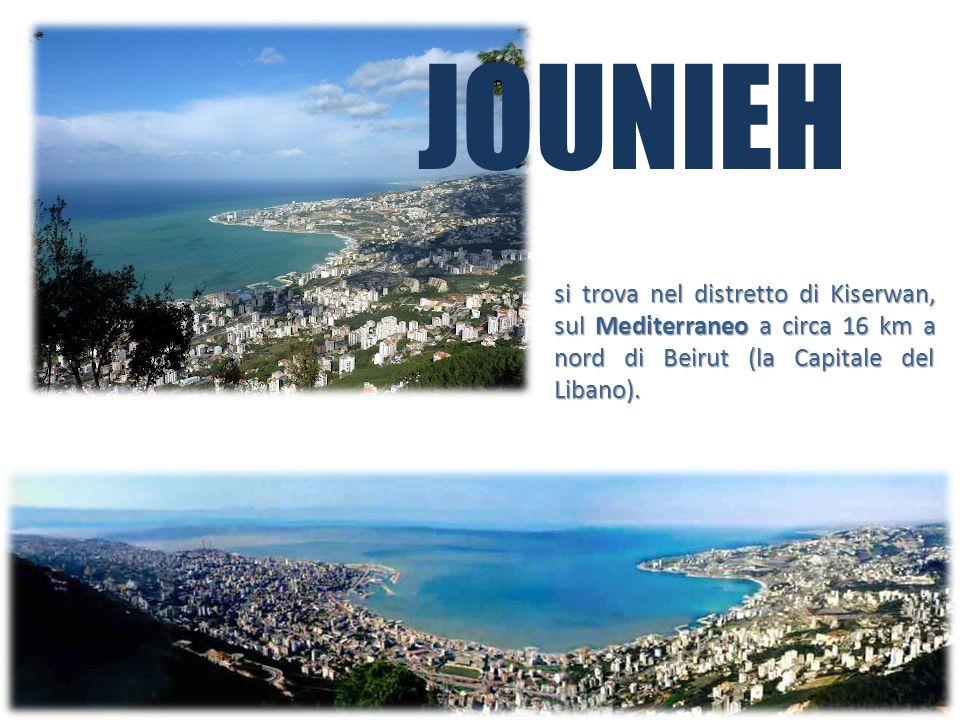 JOUNIEHsi trova nel distretto di Kiserwan, sul Mediterraneo a circa 16 km a nord di Beirut (la Capitale del Libano).