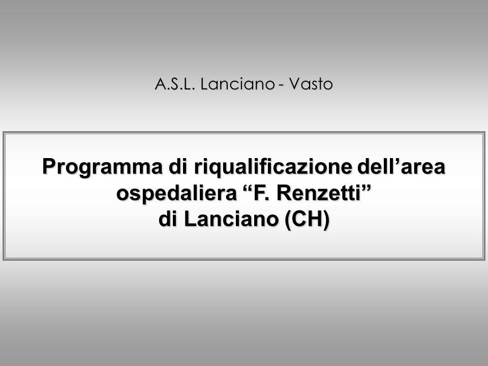 Programma di riqualificazione dell'area ospedaliera F. Renzetti