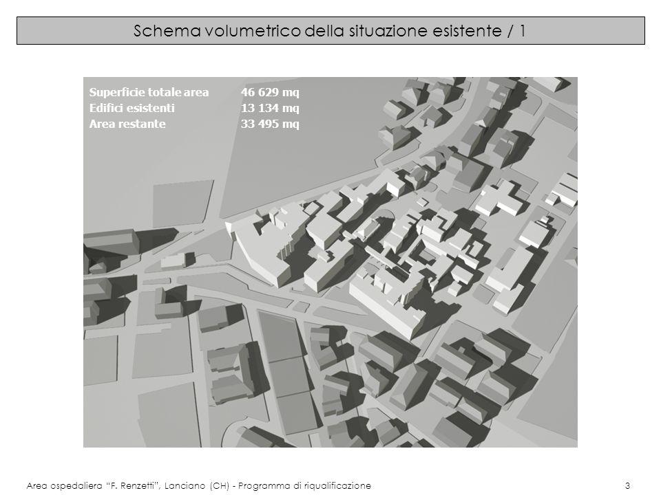 Schema volumetrico della situazione esistente / 1