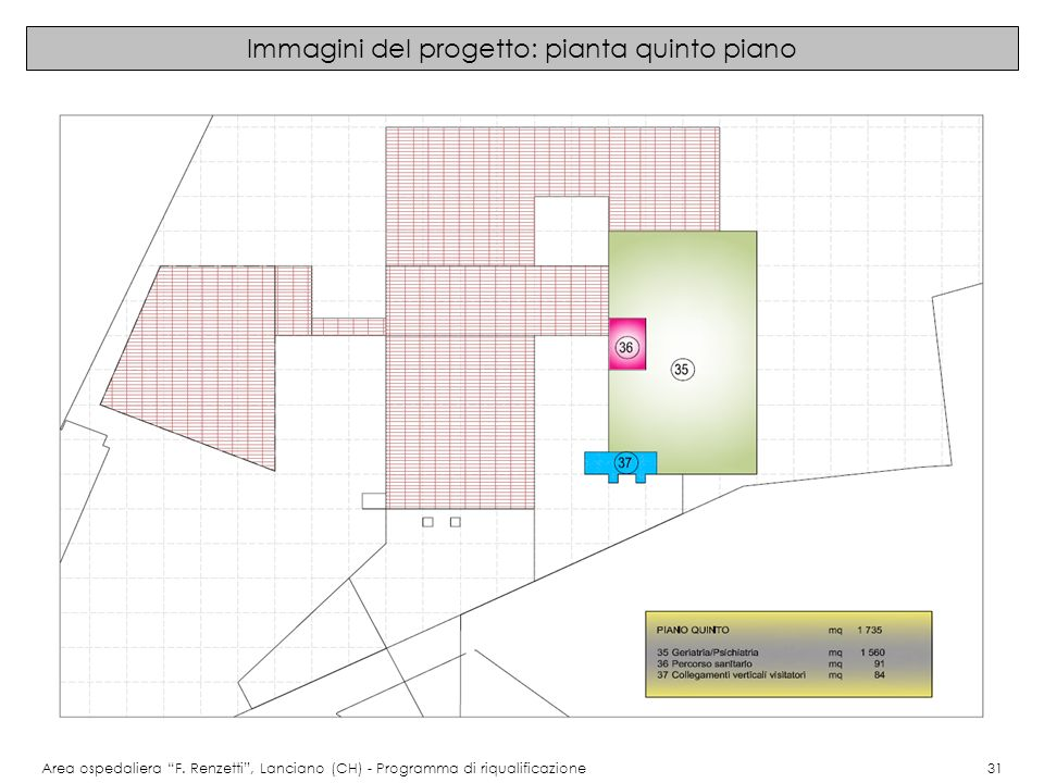 Immagini del progetto: pianta quinto piano