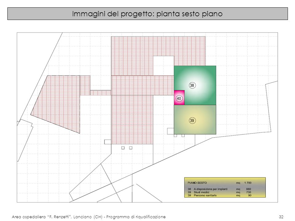 Immagini del progetto: pianta sesto piano