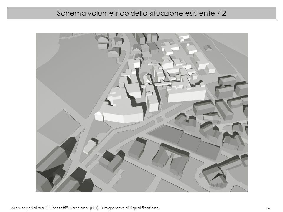 Schema volumetrico della situazione esistente / 2