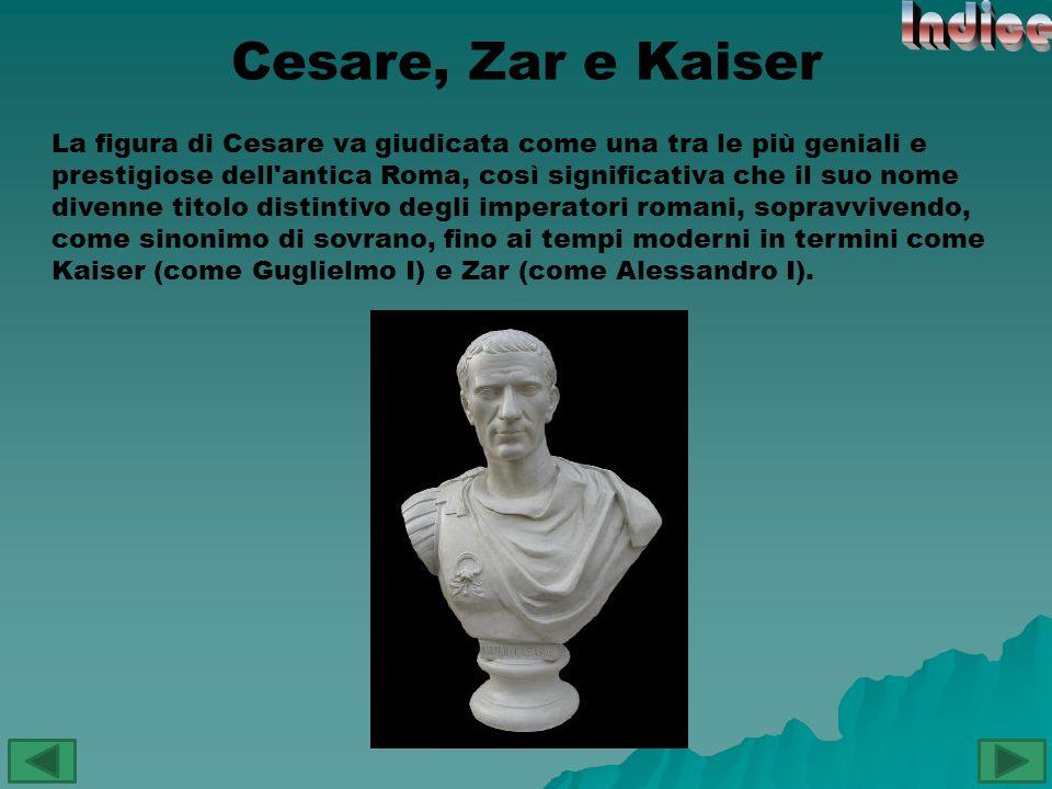 Indice Cesare, Zar e Kaiser
