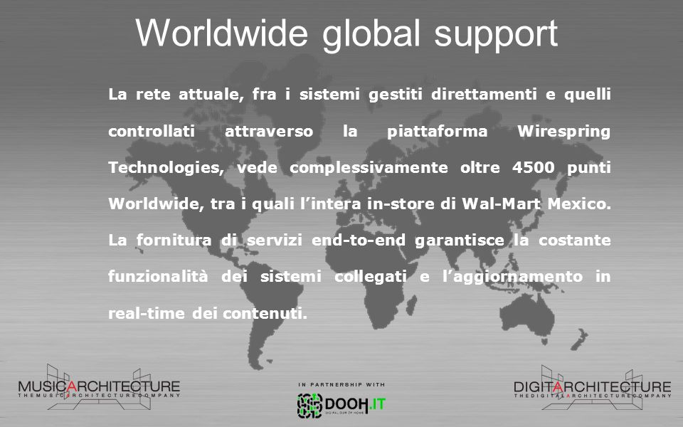 Worldwide global support