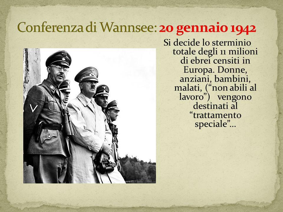 Conferenza di Wannsee: 20 gennaio 1942