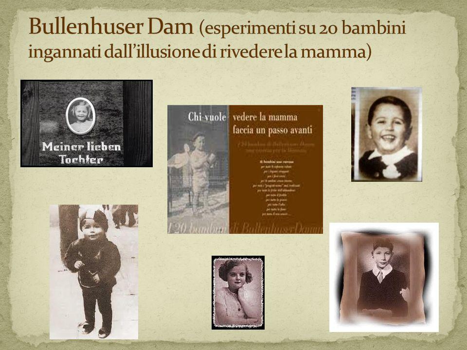 Bullenhuser Dam (esperimenti su 20 bambini ingannati dall'illusione di rivedere la mamma)