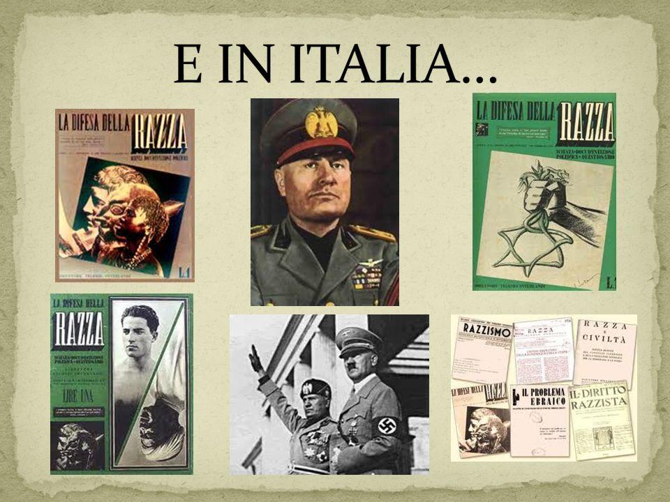 E IN ITALIA…