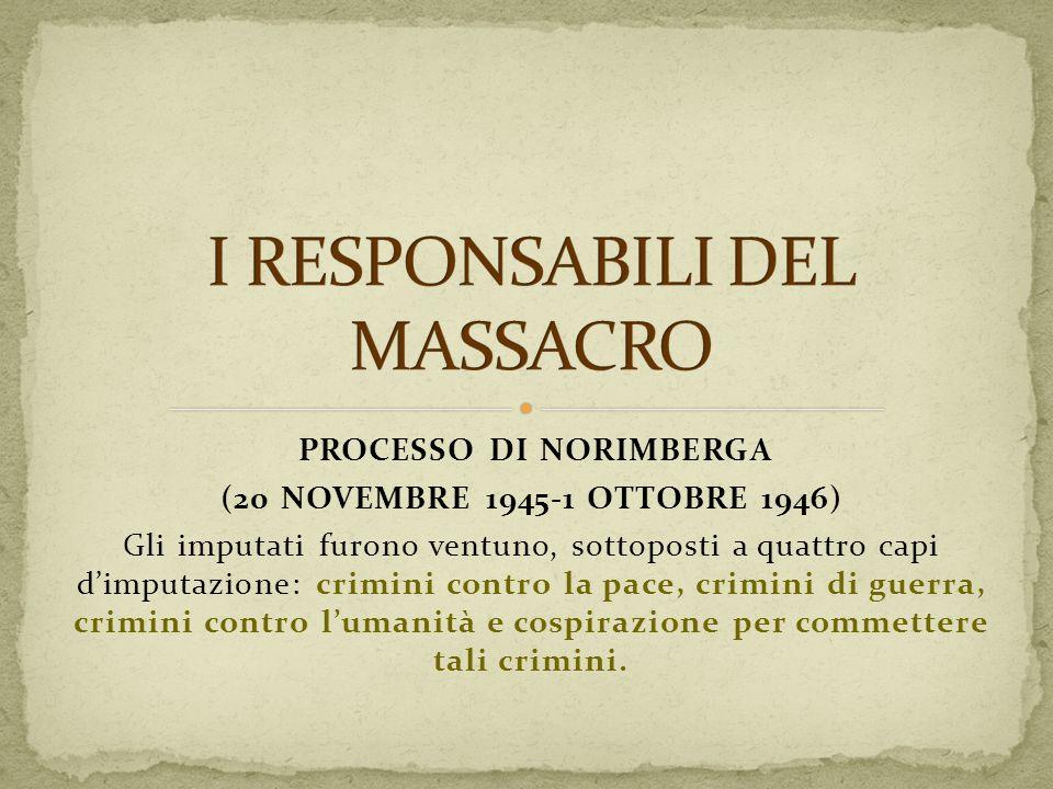 I RESPONSABILI DEL MASSACRO