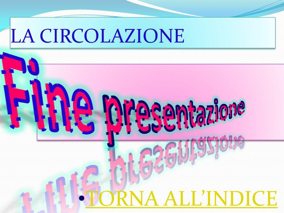 LA CIRCOLAZIONE Fine presentazione TORNA ALL'INDICE
