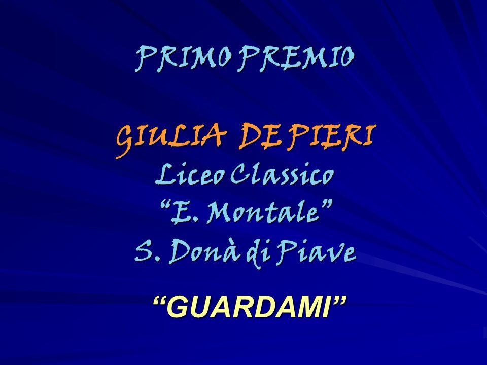 PRIMO PREMIO GIULIA DE PIERI