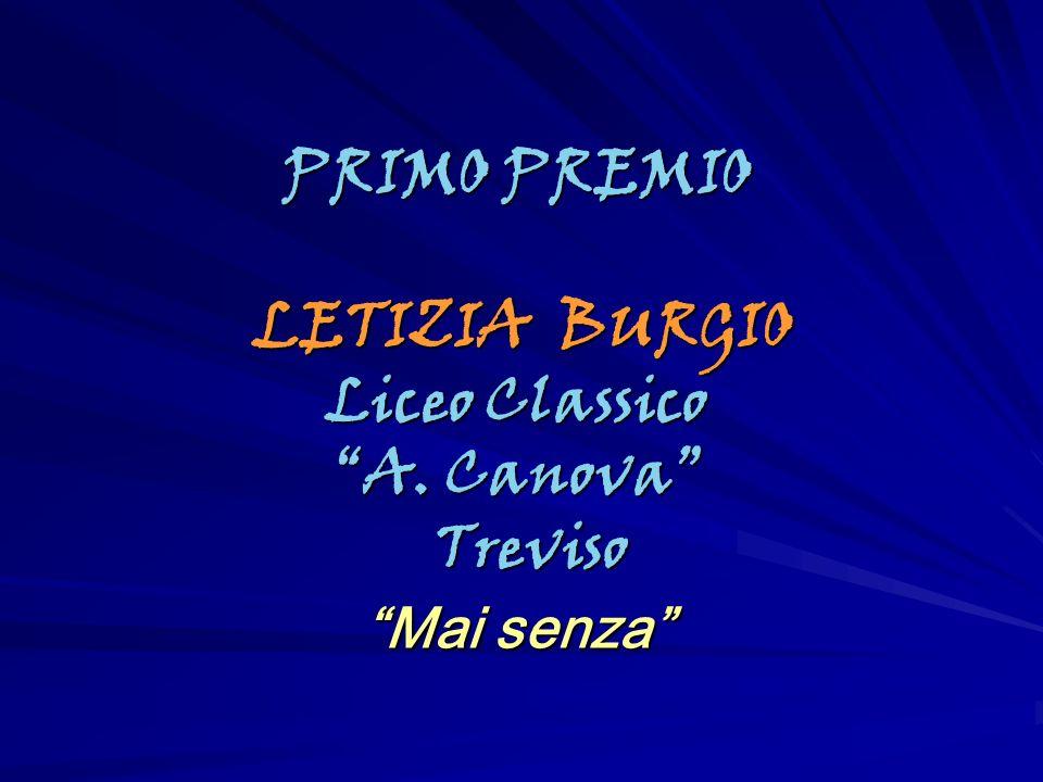 PRIMO PREMIO LETIZIA BURGIO