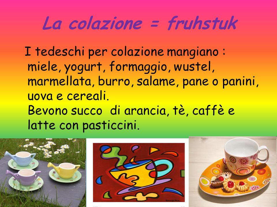 La colazione = fruhstuk