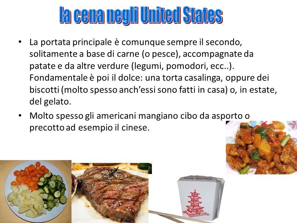 la cena negli United States